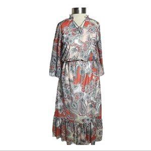 Dorothy Perkins Peasant Cottage Core Midi Dress